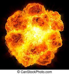 fireball:, explosion