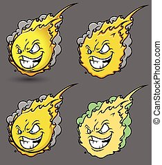 Fireball Smiley Set