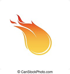 Fireball - Stylized fireball icon vector illustration...