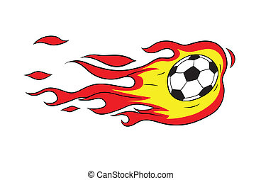 fireball - This is an illustration on soccer thematics