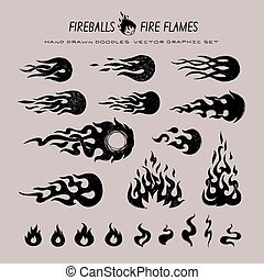 fireballs and flame icons