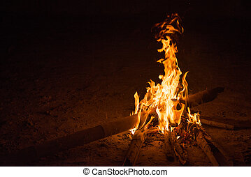 firecamp in night time 8