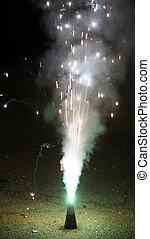 firecracker on New Year's Eve