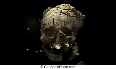 Fired bullet - Exploding skull in time warp