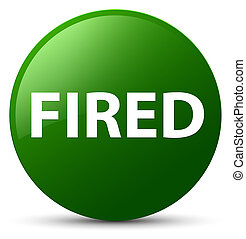 Fired green round button