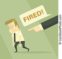 Fired office worker