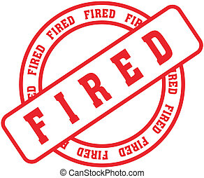 fired word stamp9 - fired in vector format