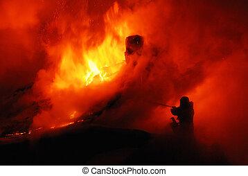 firefighte in fire