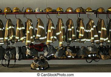 Firefighter clothing - firefighter clothing; Milford,...