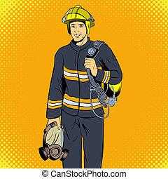 Firefighter comics character