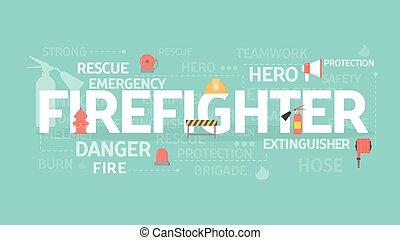Firefighter concept illustration.