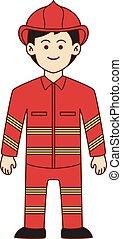 Firefighter doodle