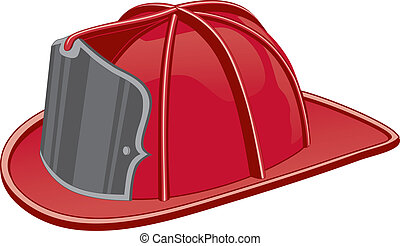 Firefighter Helmet - Illustration of a firefighter helmet or...