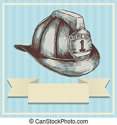Firefighter Helmet - Sketch illustration of a firefighter ...