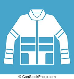 Firefighter jacket icon white