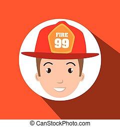firefighter man service fire