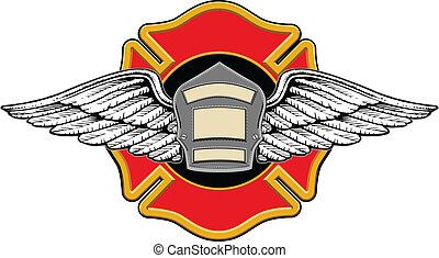 Firefighter Memorial Design - Illustration of a firefighters...