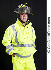 Firefighter on Black