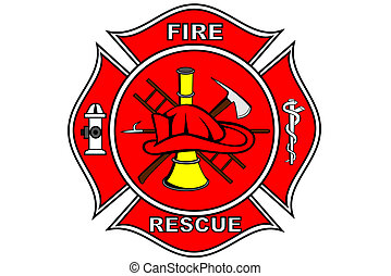 Firefighter patch - A Firefighter patch with symbols
