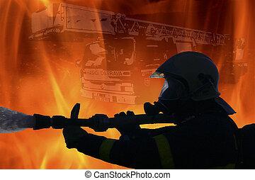Firefighter - Czech Republic - Ostrava 2006: Fire destroys...