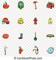 Firefighter set icons