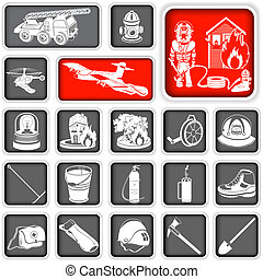 firefighter squared icons