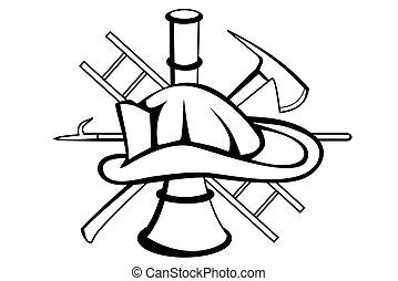 Firefighter symbol - A Firefighter symbol tattoo