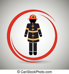 firefighter uniform protection icon