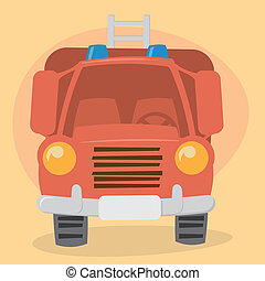firefighter, wózek, rysunek