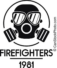 Firefighters logo, simple style