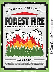 firefighting, protection, forêt, arbres, nature