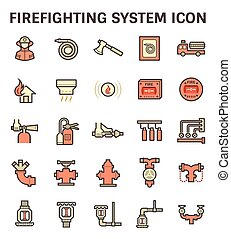 Firefighting system icon