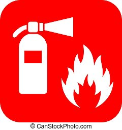 Firefighting vector icon isolated on white background