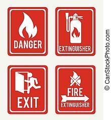 Firefigther design over white background vector illustration...