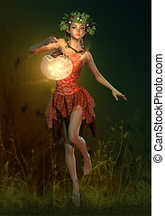Firefly Lamp, 3d Computer Graphics - 3D computer graphics of...