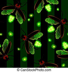 Firefly seamless vector pattern