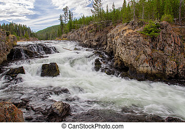Firehole Cascades in Yellowstone National Park