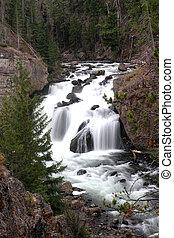 Firehole Falls in Yellowstone