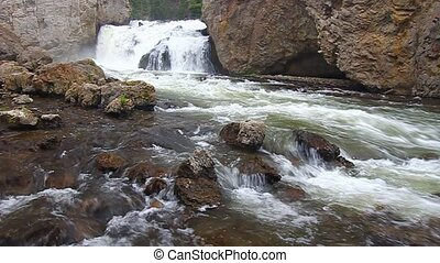 Firehole Falls - Yellowstone