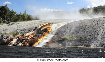 Firehole River 1 - Runoff from Excelsior Geyser to Firehole...
