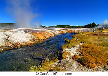 Firehole River in Yellowstone Park