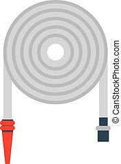 Firehose vector illustration. - Rolled up red fire fighting...