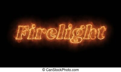Firelight Word Hot Animated Burning Realistic Fire Flame Loop.