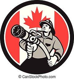 fireman-firefighter-hose CIRC GR CAN-FLAG