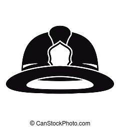 Fireman helmet icon, simple style