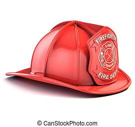 fireman helmet 3d illustration