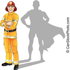 Fireman Hero - Hero fireman concept, illustration of a...