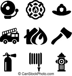Fireman Icons - This image is a illustration and can be ...
