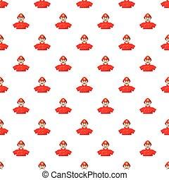 Fireman pattern seamless