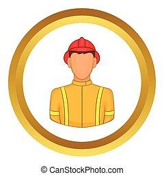Firemen vector icon
